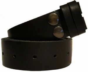 35mm Black Snap Fit Leather Belt